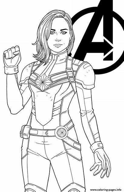 Marvel Coloring Pages Captain Drawing Superhero Avengers