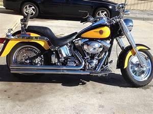 Harley Fat Boy : 2000 harley davidson flstf softail fat boy yellow and black titusville florida 670594 ~ Medecine-chirurgie-esthetiques.com Avis de Voitures