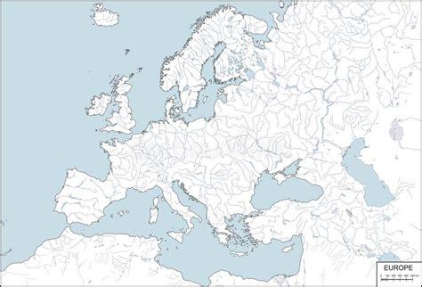 Carte Fleuves Europe Centrale by L Europe Carte De Forme Avec Des Fleuves Et Des Lacs
