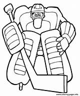Goalie Hockey Coloring Pages Kid Info sketch template