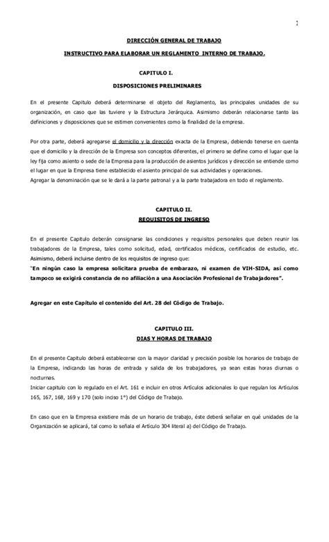 Ministero De Interno by Instructivo Reglamento Interno Ministerio De Trabajo