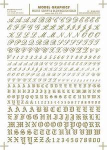 script old english numbers and letters gold dry transfer With dry transfer lettering gold