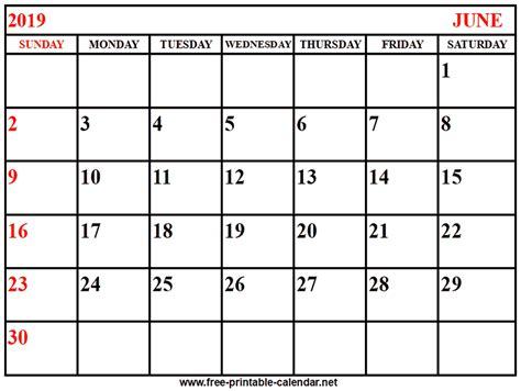 calendar june print calendars printable