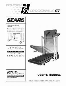 Sears Treadmill 631 29739 User Guide