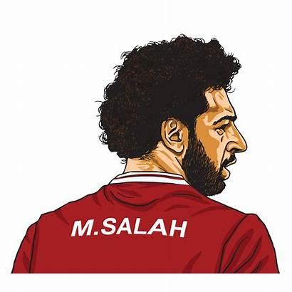 Salah Mo Cartoon Caricature Vector Mohamed Illustration