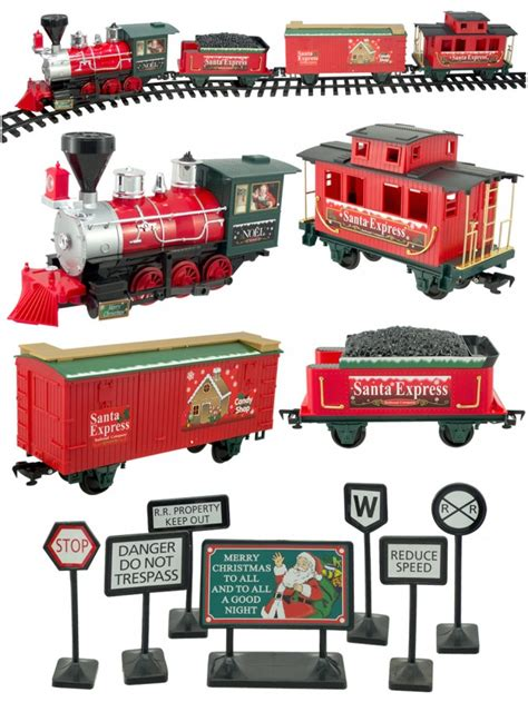 santa express deluxe train set 27 piece animation