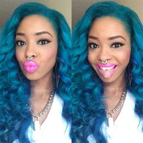 cabello de colores color hair tinte fantasia blue hair