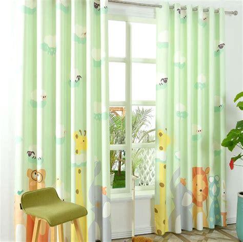 Light Green Drapes - light green animal half blackout patterns cool curtains