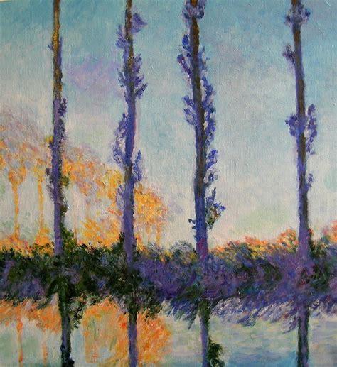 Monet's Four Poplars Painting by Dan Koon