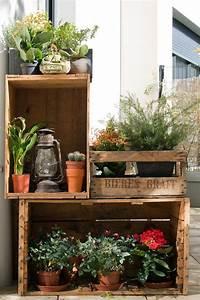 Caisse De Jardin : 25 id es cr atives pour d corer votre jardin avec caisses ~ Teatrodelosmanantiales.com Idées de Décoration