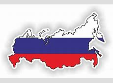 1x STICKER Russia SILHOUETTE FLAG BUMPER DECAL MAP FLAG eBay