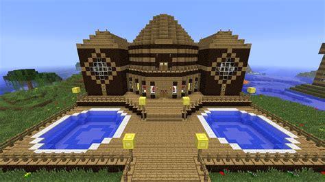minecraft tutorial    built  wooden mansion