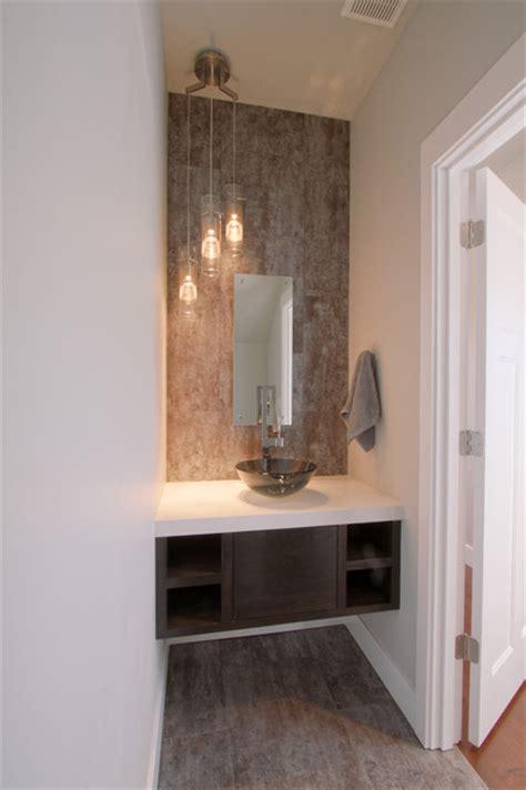 urban powder room bath  floating vanity modern