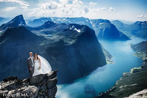 Norway Mountain Wedding Wedding Shoot On One Of The Most