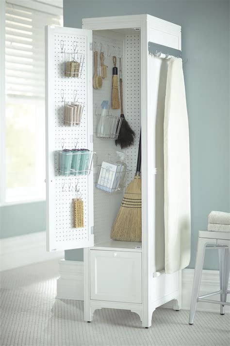 control  laundry room chaos  compact cabinet