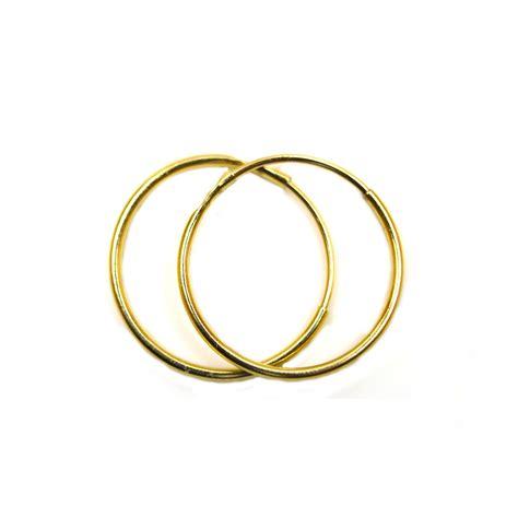 mm plain sleeper hoops  pair  ct yellow gold ebay