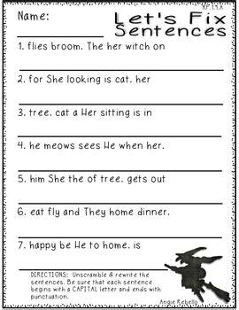 halloween math language arts worksheets  st grade tpt