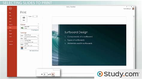 Printing In Powerpoint Handouts, Selections, And Notes  Video & Lesson Transcript Studycom