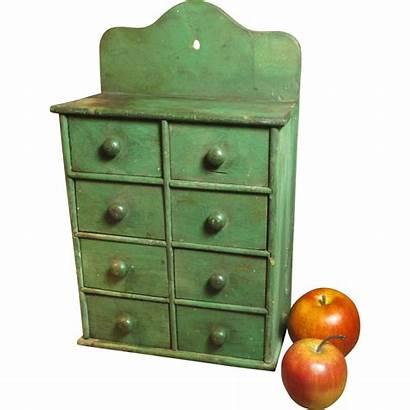 Antique Cabinet Kitchen Farmhouse Spice