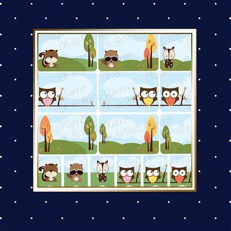 woodland creature planner sticker set eclp