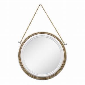 Miroir Rond Suspendu : miroir rond suspendu par une corde 22 x 22 x 2 39 39 d cors v ronneau ~ Teatrodelosmanantiales.com Idées de Décoration