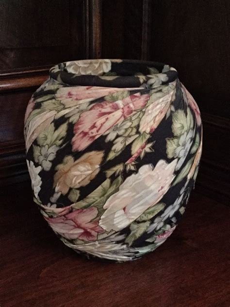 Fabric Covered Vase/Music Box