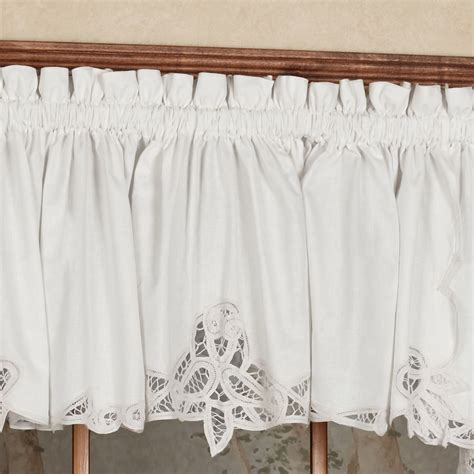 Battenburg Lace Cafe Curtains by Battenburg Lace Edge Tailored Valance 60 X 14 Touch Of Class
