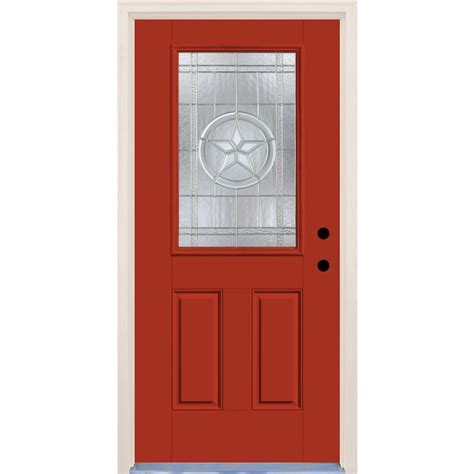 Builders Choice 36 in. x 80 in. Left Hand Texas Star 1/2