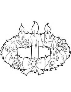 Candle Advent Wreath Coloring Page