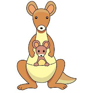 kangaroo clipart    clip art funny