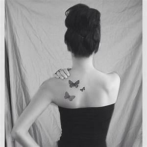 Tatouage Femme Epaule Discret : art tatouage paule femme discret dos nuque papillon tattoo idee ~ Melissatoandfro.com Idées de Décoration