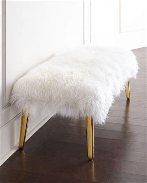 mongolian fur bench how to create a fabulous stool