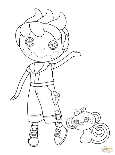 lalaloopsy ace fender bender coloring page