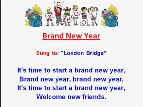 Brand New Year Kids Back To School Rhymes And Songskids
