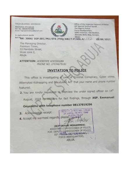 A person files a false police report when they knowingly make false statements to the police. DEVELOPING STORY: Nigerian police detain Premium Times ...