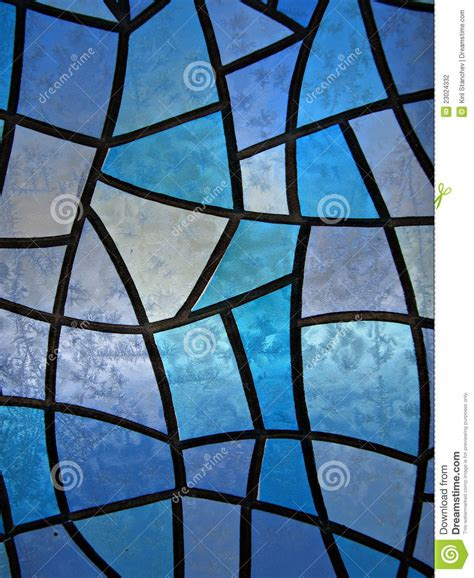 stained glass background  ice flowers stock