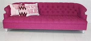 Wwwroomservicestorecom Bel Air Hot Pink Tufted Sofa