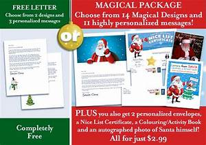 best 25 free letters from santa ideas on pinterest With best santa letter packages