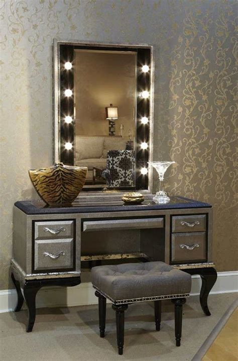 Vanity Desk Mirror With Lights by Makeup Vanity Table With Lighted Mirror Visual Hunt