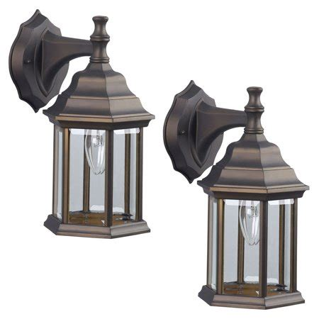 2 pack of exterior wall light fixture outdoor sconce