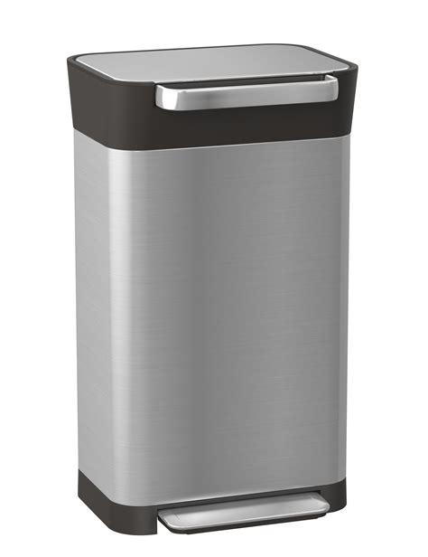 poubelle 224 p 233 dale titan compacteur 30 224 90 litres acier noir joseph joseph made in design