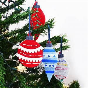 Diy, Felt, Christmas, Tree, Ornaments, For, Kids, From, Repurposed, Sweaters