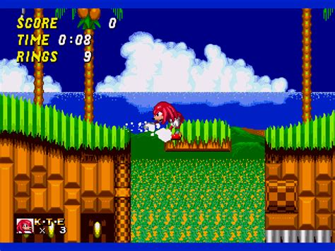 sonic  knuckles sonic   game gamefabrique