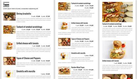 Carte De Menu Restaurant by 5 Excellent Free Restaurant Menu Plugins For