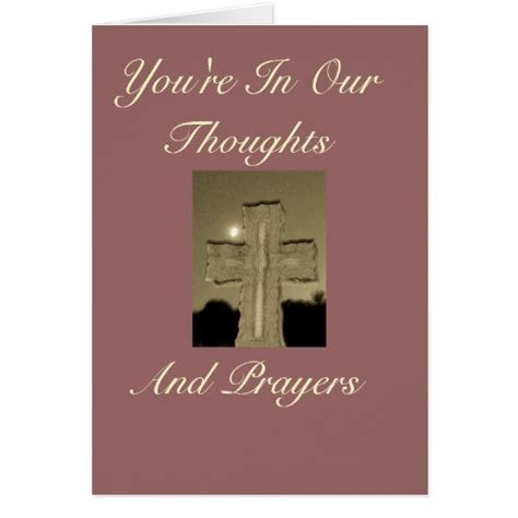 youre   thoughts  prayers card zazzle