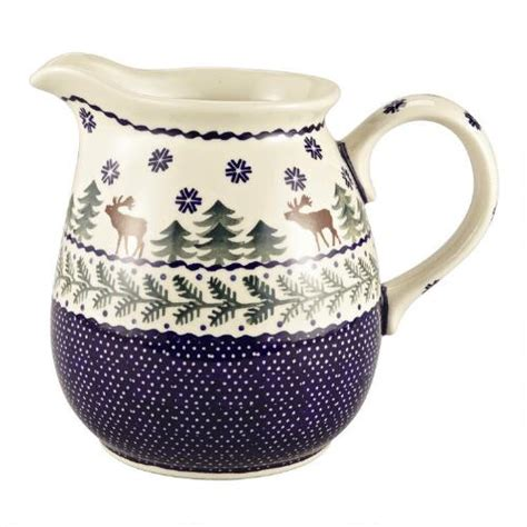 polish pottery pitcher christmas tree shops andthat