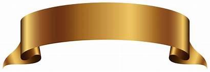 Banner Transparent Gold Clip Background Clipart Golden