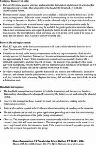 Elvex Com699 Guide Microphone User Manual