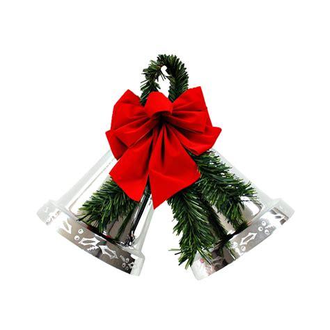 trim a home 174 8 quot medium silver double bell seasonal
