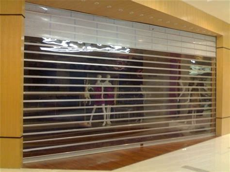 clear plastic roll up garage doors remote transparent polycarbonate rolling door for